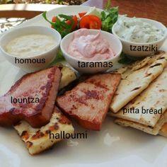 Enjoying a Cyprus starter platter