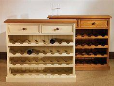 Mottisfont Waxed Large Floor Standing Wine Rack (Wooden)