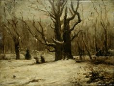 Winter Landscape, By Gustave Courbet, C. French Painting, Oil On Canvas. Scene In A Winter Forest Poster Print French Paintings, Modern Art Paintings, Oil On Canvas, Canvas Art, Gustave Courbet, Landscape Artwork, Modern Artists, Art Challenge, Winter Landscape