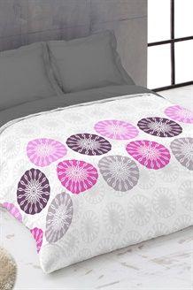 Conjunto edredão de algodão Fius -  Cinzento e rosa