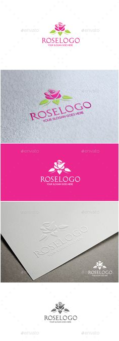 Rose - Logo Design Template Vector #logotype Download it here: http://graphicriver.net/item/rose-logo/11560659?s_rank=789?ref=nexion