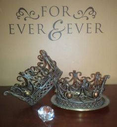 Someone once told me that when we decorate our homes, we should do so with everything having a purpose behind it . These crowns remind us that if we fulfill our covenants with the Lord, we will receive eternal life and be Kings and Queens...