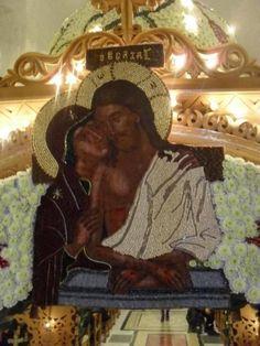 Blessed Virgin Mary, God Loves You, Orthodox Icons, Christian Art, Gods Love, Greece, Religion, Hearts, Easter
