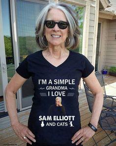 Sam Elliott, Love Sam, T Shirts For Women, Tops, Fashion, Moda, Fashion Styles, Fashion Illustrations