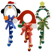 "Whimsical Christmas Felt Doorknob Hangers, 13½"" at DollarTree"