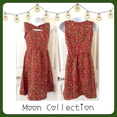 """🔵 BOGO Moon Collection Floral Boutique Dress 🛍BOGO 1/2 OFF🛍 Only 1 Medium or Large & 2 Smalls left‼️ """"Yellowing Budding Flowers"""" sleeveless dress with unique cut-out on top...back zipper with a hook/eye closure...adorable with knee/thigh high socks and boots for the cold weather but also super cute with a pair of sandals/wedges for the summer!  Brand: Moon Collection Measurements:  (Small) chest - 17"""" flat; length - 34"""" (Medium) chest - 18"""" flat; length - 34"""" (Large) chest - 19"""" flat…"""