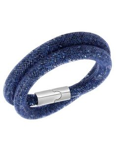 Swarovski Stardust Double Blue Crystal Tube Bracelet 5092090 - Stardust - Latest Arrivals - Swarovski - Brands   The Jewel Hut