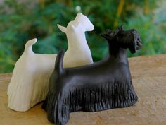 Black White Scottish Terriers buy one or the pair by MudPups