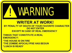 LOVE this! - A Writer's Comic - Writers Write Creative Blog-want this SO SO bad for my door!!