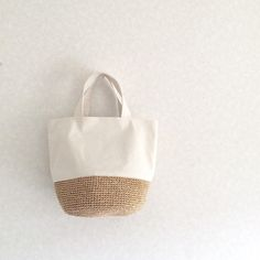 crochet & fabric bag