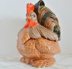 Vintage Rooster Cookie Jar by WidhalmsCollectibles on Etsy, SOLD