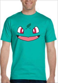 Inspired by Bulbasaur face Pokemon T-shirt Men's Women's kids