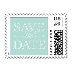 Mint Save the Date Stamp