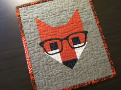 Fancy fox glasses pattern. Because OMGosh... It does not get any cuter!