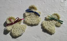 Cream Christmas Angel magnets set of three by Lisacrochetables #handmade #tbec #florida #angels #magnets #ornaments