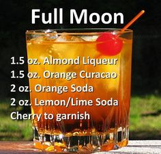 Full Moon This cocktail brings together two distinct flavors that seem to play well with each other. In this drink, the brightness of Orange, marries well with the earthy subtle flavor of Almond, to. Non Alcoholic Drinks Halloween, Halloween Cocktails, Alcoholic Shots, Alcoholic Desserts, Liquor Drinks, Cocktail Drinks, Refreshing Drinks, Summer Drinks, Alcholic Drinks