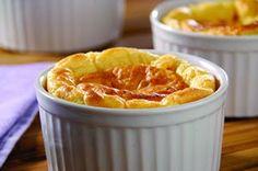 Suflê de mandioquinha com tomates secos