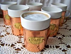 Vintage Copper Serving Mugs Set of Six by cynthiasattic on Etsy, $75.00