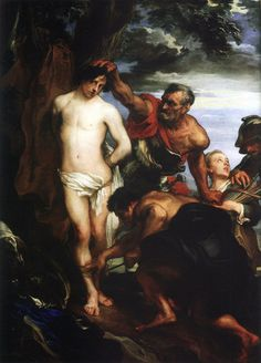 Anthony van Dyck Martyrdom of St. Anthony Van Dyck, Sir Anthony, Beauty In Art, Male Beauty, Best Art Books, Anton Van, Rome, Cain And Abel, Childrens Artwork