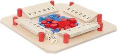 Familienspiel für 2 - 4 Personen ab 5 Jahren. Mit Spielbrett, vier Würfeln und 60 Spielsteinen. Ziel des lustigen Klappenspieles ist es, würfelnd als Erster seine sechs Klappen umzuklappen. Wer nicht mehr klappen kann, muss einen seiner Spielsteine abgeben. Sieger ist, wer die meisten Steine gewinnt. Abmessungen (in mm): 330x330x35.ACHTUNG: Nicht geeignet für Kinder unter drei Jahren.