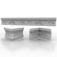 Cornice Molding 23 Model available on Turbo Squid, the world's leading provider of digital models for visualization, films, television, and games. Diy Furniture Repair, Victorian Wall Decor, Cornice Moulding, Arabic Decor, Crown Pattern, Celtic Patterns, Home Theater Rooms, Acanthus, Carving