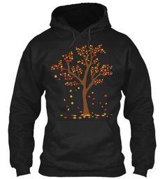 An Autumn Tree Black T-Shirt Front. Fall hoodie or shirt!