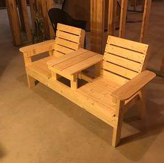 I Made a Double Chair Garden Bench. http://ift.tt/2joJ06e