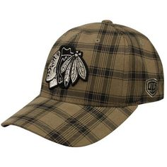 NHL Old Time Hockey Chicago Blackhawks Brown Plaid Flex Hat by Old Time. $23.95. Stretch fit (one size fits most). Six panels with eyelets. Quality embroidery. Structured fit. Imported. Old Time Hockey Chicago Blackhawks Brown Plaid Flex Hat98% Cotton/2% SpandexStructured fitImportedOfficially licensed NHL productStretch fit (one size fits most)Six panels with eyeletsQuality embroidery98% Cotton/2% SpandexStructured fitStretch fit (one size fits most)Quality embroiderySix ...