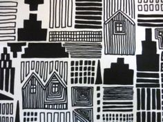 "Marimekko Finland Maija Louekari ""Onnea Etsimassa"" Unused Fabric Remnant | eBay"