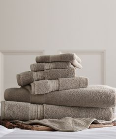 Taupe Luxury Spa Collection 700 GSM Six-Piece Towel Set