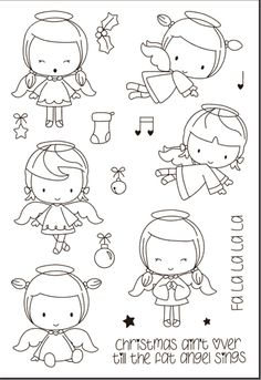Look what I found on AliExpress Easy Coloring Pages, Coloring Books, Album Photo Scrapbooking, Stick Figure Drawing, Cheap Stamps, Tampons Transparents, Christmas Drawing, Digital Stamps, Cute Illustration