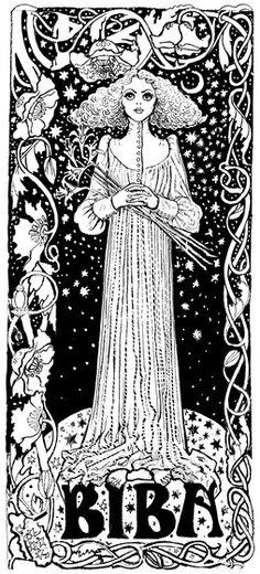 Love Chris Prices's Art Nouveau inspired Biba illustrations.