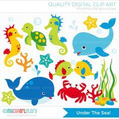 Clipart Under the Sea