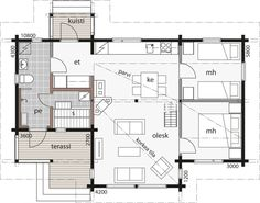 Small House Plans, My House, Floor Plans, Layout, Cottage, Windows, How To Plan, Building, Little House Plans