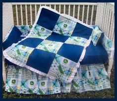New John Deere baby Crib Bedding Set with by KustomKidsBedding, $275.00