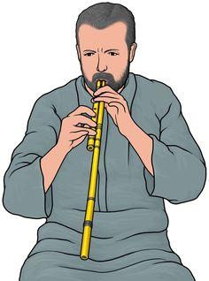 アルグールの演奏。arghul. アルグールは、シングルリードの管が2本セットになった笛。