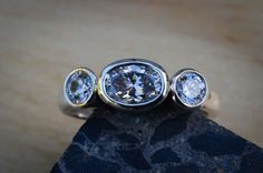 Sterling silver and cubic zirconia ring.