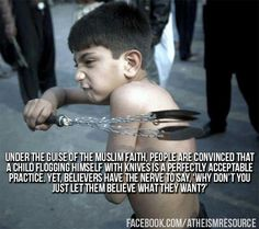 Flogging - child abuse.