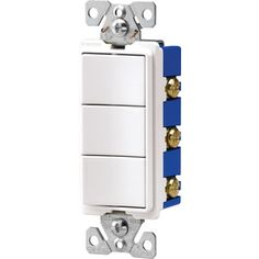 Cooper Wiring Devices 15-Amp White Combination Decorator Light Switch