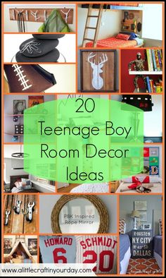 20 Teenage Boy Room Decor Ideas - A Little Craft In Your Day Except I want the deer head to be a head board, and I love the magnet rocks!!