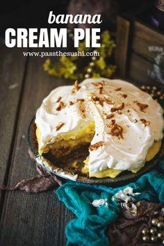 Homemade Banana Cream Pie \\ PasstheSushi.com