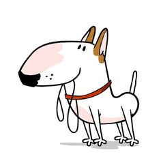 walk Sticker by Jimmy the Bull for iOS & Android English Bull Terriers, Bull Terrier Dog, Emoji Pictures, Skateboard Design, Dog Illustration, Jack Russell Terrier, Dog Art, Cute Stickers, Cute Animals