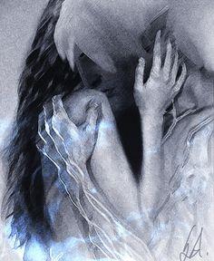 Hugging Fenris by Savvid.deviantart.com on @deviantART
