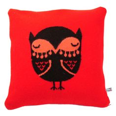 Heal's   Owl Knitted Cushion By Donna Wilson - Cushions - Soft Furnishings - Accessories