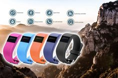 Next-Gen' 8-in-1 TW64s Bluetooth Sports Activity Bracelet - 5 Colours!