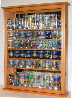 110 Shot Glass Display Case with shelves-I need someone to build ...