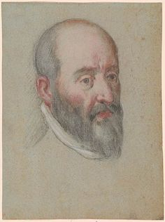 Carlo Caliari | Head of a Bearded Man | Drawings Online | The Morgan Library & Museum