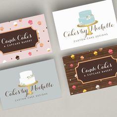 Business card templates for cupcake businesses and bakeries Bakery Business Cards, Cake Business, Business Card Mock Up, Business Card Design, Cupcake Logo, Cupcake Card, Cake Branding, Branding Design, Dessert Logo
