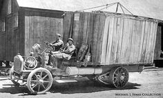 Early Chain-driven White truck