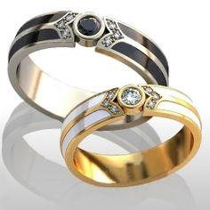 Купить Обручальные кольца ИНЬ и ЯН